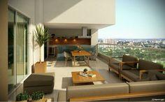 Park house flamboyant goiania - Varanda de luxo no Out Living com vista definitiva para o Parque Flamboyant em Goiânia. IMOVEIS DE LUXO GOIANIA  Vendas: (62) 8271-4111 ou (62) 8468-4269