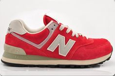 Joes New Balance 574 WL574DRD Red Grey Lovers Womens Shoes