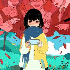 Sad Anime Girl, Anime Art Girl, Dark Art Illustrations, Illustration Art, Image Triste, Sun Projects, Vent Art, Anime Crying, Arte Obscura