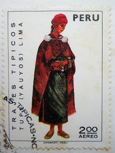 Stamps, covers and postcards of traditional/folk costumes: Stamps / Costumes - Peru / Peru