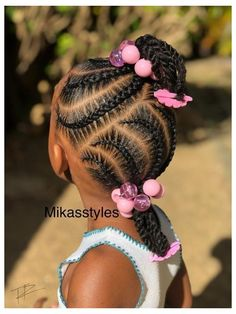 Little Girls Natural Hairstyles, Toddler Braided Hairstyles, Little Girl Braid Hairstyles, Black Kids Hairstyles, Lil Girl Hairstyles Braids, Young Girls Hairstyles, Childrens Hairstyles, Curly Hairstyles, Little Girl Braid Styles