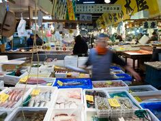 Tokyo's Tsukiji Fish Market is the largest fish market in the world, and at its heart sits a frenetic section of fish wholesalers and processors, where every morning at 5 a.m. the famed tuna auction takes place. But it's just as thrilling to wander around the perimeter of the market, where retail shops sell seafood and other groceries, and humble food stalls offer sushi as fresh as it comes.