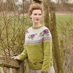 Blossom Knitting pattern by Marie Wallin Fair Isle Knitting, Knitting Socks, Hand Knitting, Knitting Needles, Knitting Designs, Knitting Projects, Knitting Patterns, Punto Fair Isle, Rowan Felted Tweed