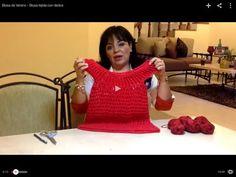 Blusa de Verano - Blusa tejida con dedos - Tejiendo con Laura Cepeda - YouTube
