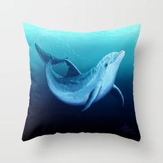 Dolphin Images, Dolphin Art, Throw Cushions, Blue Pillows, Dolphin Bedroom, Indian River Lagoon, Dolphins Tattoo, Ocean Home Decor, Bottlenose Dolphin