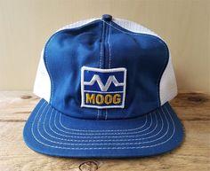 c3908f8a71d Vintage 1980s MOOG Auto Steering Suspension Mesh Trucker Hat Snapback Cap  Canada  BaseballCap Cap Canada