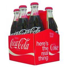 Conjunto 6 Mini Garrafas Coca-Cola
