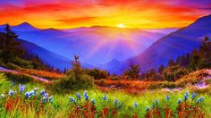 Rainbow Of Colors Sunset Wallpaper