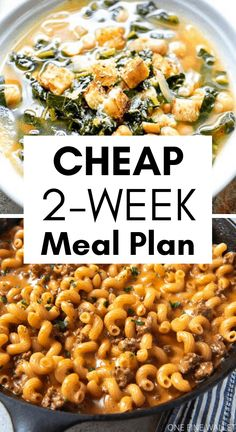 If you are on the hunt for super cheap healthy meals, your search ends here. With 2 weeks of meal ideas, you can create these cheap meals in no time. Super Cheap Meals, Cheap Healthy Dinners, Cheap Easy Meals, Quick Healthy Meals, Healthy Family Meals, Frugal Meals, Cheap Meals For Two, Inexpensive Meals, Cheap Recipes