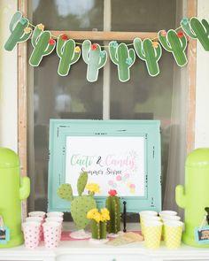 Candy Bar from a Cactus & Candy Summer Soiree on Kara's Party Ideas | KarasPartyIdeas.com