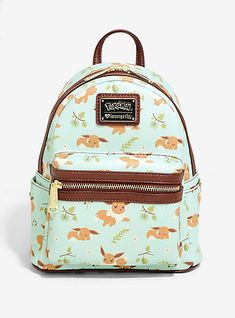 d9696b1a626 Loungefly Pokémon Eevee Floral Mini Backpack - BoxLunch Exclusive