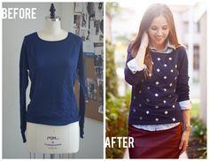 No-Sew Sparkle Sweatshirt DIY