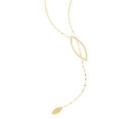 Lana Jewelry   Marquis Lariat   14K Gold