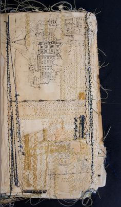 Untitled by Nina Morgan - Art House Sketchbook Project http://www.arthousecoop.com/users/ninaloo #stitching #mixed_media #artists_book