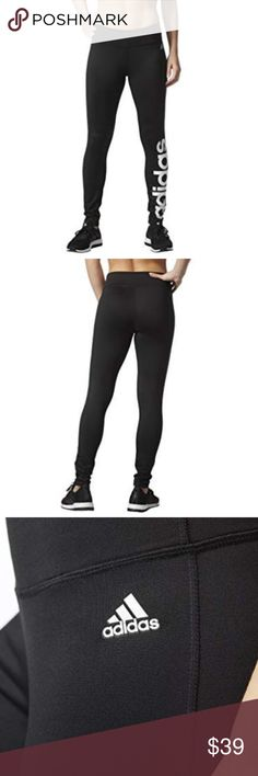b14a7eb39 adidas Women s Fab Climalite Tights Pants New with tag Color Black  ClimaLite® breathable