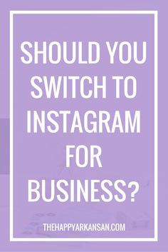 Today on the blog we are talking all about Instagram for Business. A little  under a week ago I switched to Instagram for Business on my blog's  Instagram as well as the Instagram for the account I run for Tri Sigma. A  lot of people have been sharing stories on both sides of the debate and I  want to give my two cents to this awesome discussion.  Social Media Isn't For Business  I know, this sounds crazy. Why would I say such a statement? It's true  though, social media isn't fo