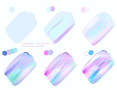 Tutorial - Holographic by Velsinte on DeviantArt Digital Painting Tutorials, Digital Art Tutorial, Art Tutorials, Drawing Techniques, Drawing Tips, Holographic Paint, Art Sketches, Art Drawings, Cat Eye Tutorial