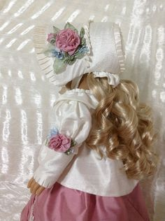 RESERVED silk Dupioni spencer jacket and bonnet by DollSizeDesigns