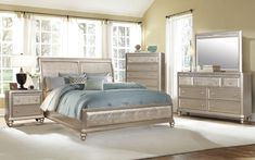 K ELITE Mason Bedroom Collection  This stunning bedroom furniture is bright and luxurious. The Mason Bedroom Collection has sparkling embellishments, a posh headboard and rounded feet, giving this bedroom set a fabulous look. Pair with the bedside table, a mirrored dresser or tall chest of drawers for an exquisite ensemble. Mirrored Dresser, Dresser With Mirror, Chest Of Drawers, Bedside, Bedroom Furniture, Embellishments, Collections, Bright, Luxury