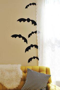 Bat decorations for #Halloween