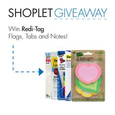 #WIN a prize pack from Redi-Tag, filled with Flags, Tabs & Notes! Just Repin, Follow + leave us a comment on our blog about what's on your to-do list :) #GIVEAWAY