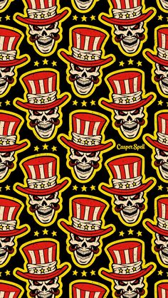 CarnEVIL Circus Ringmaster by Casper Spell - Halloween Wallpaper Halloween Circus, Halloween Fabric, Halloween Patterns, Halloween Art, Halloween Themes, Vintage Halloween, Halloween Costumes, Cute Wallpaper Backgrounds, Cute Wallpapers