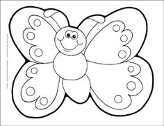 Butterfly outline cartoon. Best images in