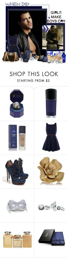 """""""Too sexy to be true"""" by peonyandpython ❤ liked on Polyvore featuring Lydia Courteille, Christian Dior, Nicholas Kirkwood, Louis Vuitton, Citrine by the Stones, Guide London, Chloé, Harrods, Juicy Couture and boys girls blue black blonde jesse metcalfe sexy tear drops cry romantic love cute man"""