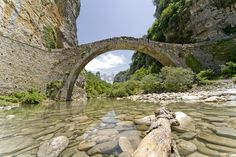 bridges in greece | Rounded Arch Bridge In The Zagoria In Greece Stock Photo - World of ...