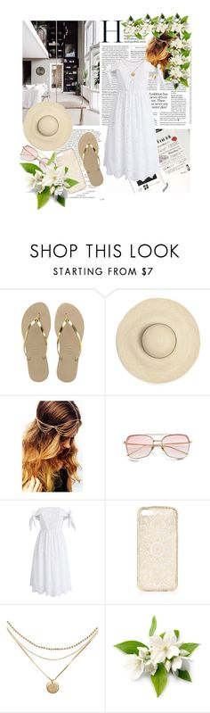 """""""Indoor Boho Style Swing"""" by harrypotterlover12 ❤ liked on Polyvore featuring Balmain, Havaianas and Chicwish"""
