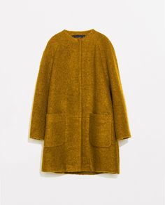 ZARA - WOMAN - MOHAIR COAT WITH POCKETS