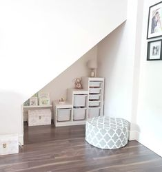 Creative Under Stairs Storage Design Ideas - Many of us live in houses that have an open area underneath the stairs. This often gets used for shoes or bags or maybe, if there is enough height, fo. Under Stairs Playroom, Under Stairs Playhouse, Space Under Stairs, Under Stairs Cupboard, Under The Stairs, Playroom Ideas, Nursery Ideas, Stair Storage, Toy Storage
