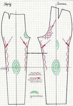 уроки шитья, вто брюк