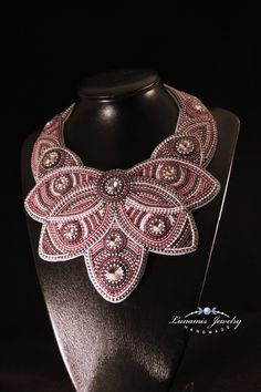 necklace, collar, bead embroidery, beading, handmade, jewelry, bead