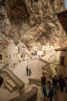 Inside the monastery Sumela in Turkey Life Is An Adventure, Greatest Adventure, Adventure Awaits, Freedom Of Religion, Adventure Aesthetic, Ephesus, Mysterious Places, Amazing Buildings, Islamic Architecture