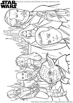 Coloriage Personnages StarWars - Hugolescargot.com