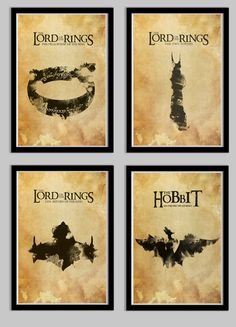 The Lord of the Rings Poster Set FOUR Posters by LynxCollection, $49.95