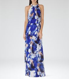 The Perfect Summer Wedding Guest Outfit: Reiss Cecille Women's Serpentine Printed Maxi Dress