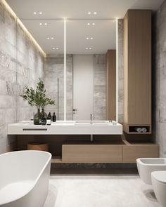 Master bathroom #masterbathroom #modernbathroom #minimalisticbathroom #ideasforbathroom #minimalism #minimalisticarchitecture #minimalisticinterior #architecture #modernarchitecture #design #minimalisticdesign #bathroom Laundry In Bathroom, Master Bathroom, Minimalist Interior, Minimalist Design, Front Gate Design, Interior Concept, Bathroom Interior Design, Modern Luxury, Modern Bathroom