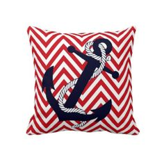 Nautical and Patriotic.  Perfect for the Navy and White Decor in the Living Room July 4th, Memorial Day, Veterans' Day, Flag Day... you get the idea.