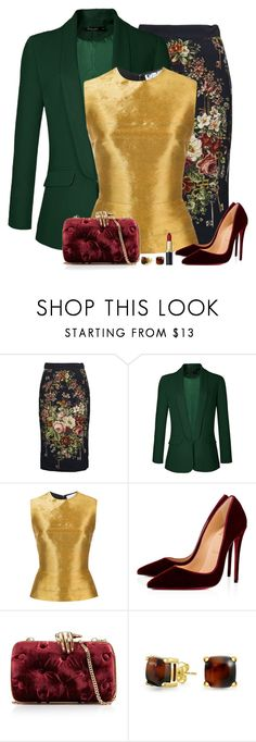 """""""Set 2246"""" by lapshi4ka ❤ liked on Polyvore featuring Dolce&Gabbana, Oscar de la Renta, Christian Louboutin, Benedetta Bruzziches and Bling Jewelry"""