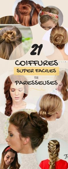We've discovered 21 tremendous easy and super-chic hairstyles tutorials for the lazy princess yo Wedding Hairstyles For Medium Hair, Chic Hairstyles, Medium Hair Styles, Curly Hair Styles, Hair Cute, Diy Haircut, Diy Wedding Hair, Diy Braids, My Hairstyle