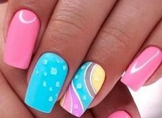 💋💋💋 Outstanding Fall Nails Designs Ideas Thаt Mаkе Yоu Wаnt Tо Co… - Christmas Deesserts Colorful Nail Designs, Fall Nail Designs, Cute Nail Designs, Watermelon Nail Designs, Watermelon Nails, Orange Nails, White Nails, Fall Nails, Summer Nails