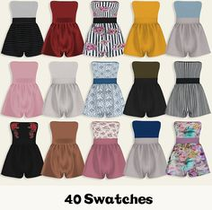 Myko Romper at Lumy Sims The Sims 4 Pc, Sims 4 Cas, Sims Cc, Rompers For Teens, Sims 4 Black Hair, Sims4 Clothes, Sims 4 Dresses, Sims 4 Cc Packs, Sims 4 Toddler