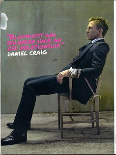 I meeeean, come on. I have a crush.    Daniel Craig in The Girl With The Dragon Tattoo...