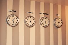 Time zone wall. Ha! We might need this when we're in HI so we can keep track with our family all over