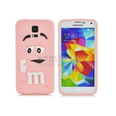 Soft Silicone Fragrance Cute M&M Colorful Rainbow Cellphone Cover Case for Samsung Galaxy S5 - 10 Colors
