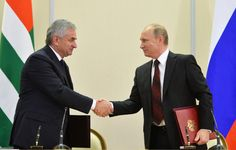 """Russia tightened its control Monday over Georgia's breakaway province of Abkhazia with a new treaty envisaging closer military and economic ties with the lush sliver of land along the Black Sea.The move drew outrage and cries of """"annexation"""" in Georgia and sent a chill through those in Abkhazia who fear that wealthy Russians will snap … Continue reading »"""