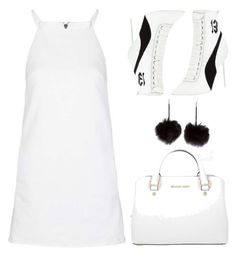 """You Clean Up Nice"" by paperdollsq ❤ liked on Polyvore featuring Topshop, Puma and Michael Kors"