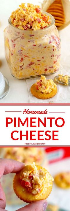 This recipe for Pimento Cheese, the southern classic, is simple, portable, and some serious comfort food. It's perfect for snacks or as an appetizer when entertaining!